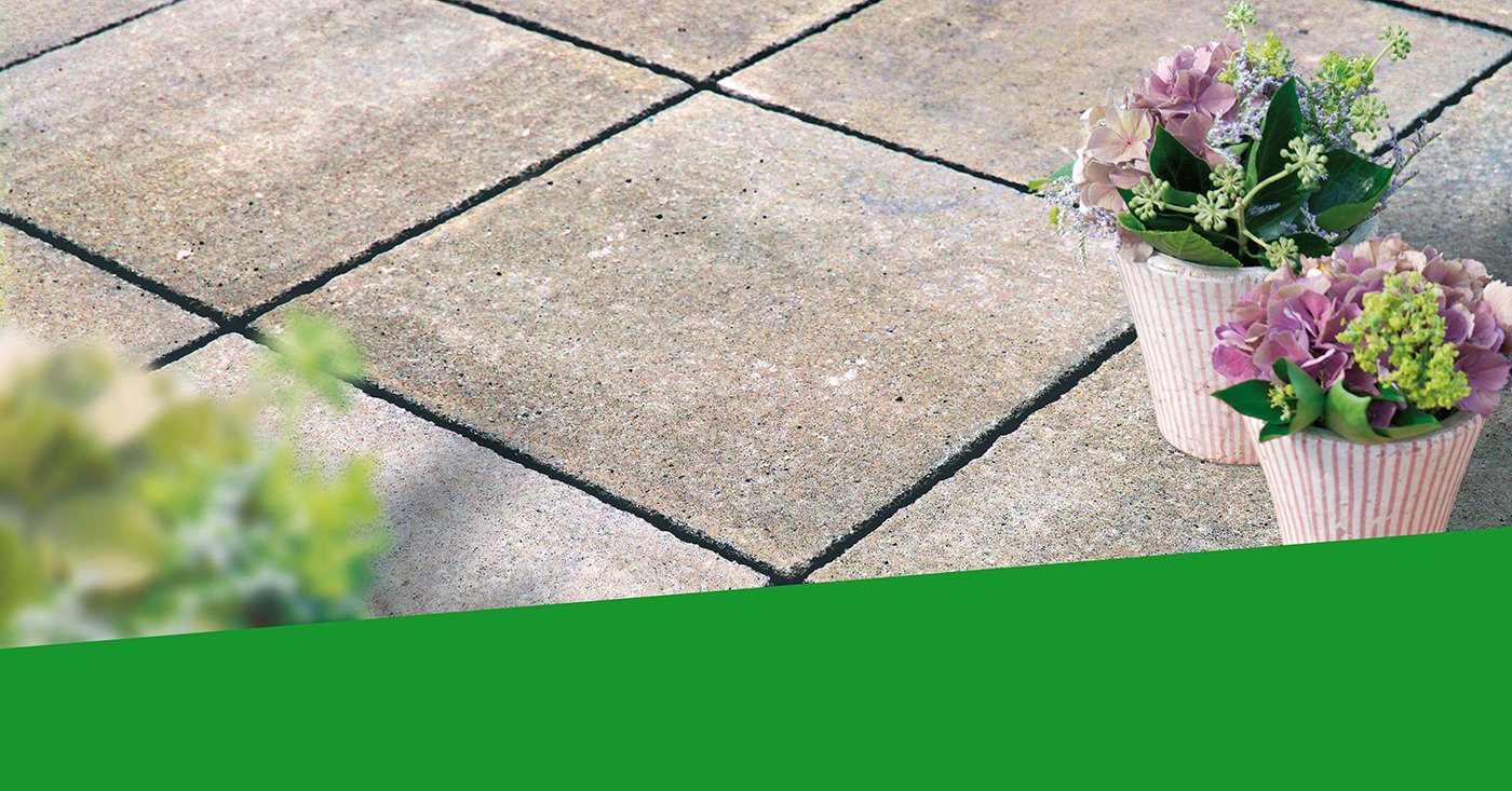Terrassenplatten aus Beton für die Gartenoase