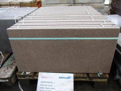 terrassenplatten 1b die belgische schwarz braun 80 40 4 ebay. Black Bedroom Furniture Sets. Home Design Ideas
