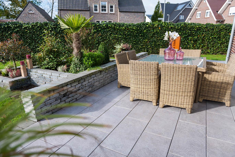 Garten mit Steinplatten gestalten   Terrassenwelt