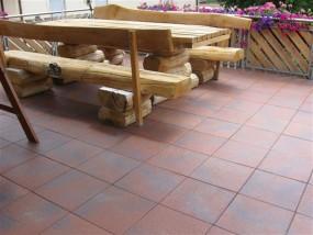 Terrassenplatten DIE BELGISCHE ROT-SCHW. GEFL. 40/40/4 CM