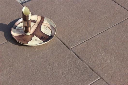 Terrassenplatten DIE BELGISCHE SCHWARZ-BRAUN 40/40/4 CM