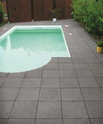 Terrassenplatten RUSTICA SCHWARZ-GRANIT 40/40/4 CM