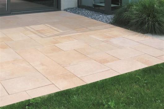 Terrassenplatten DIE BELGISCHE LACHS GEFL. 60/60/4 CM