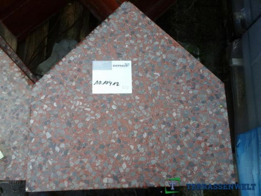 Terrassenplatten BERLINER PL. ROT GROBSCHL. 5 CM TYP B