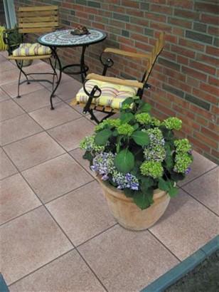 Terrassenplatten RUSTO OLIVBRAUN 40/40/4 CM PE2 112/DBP