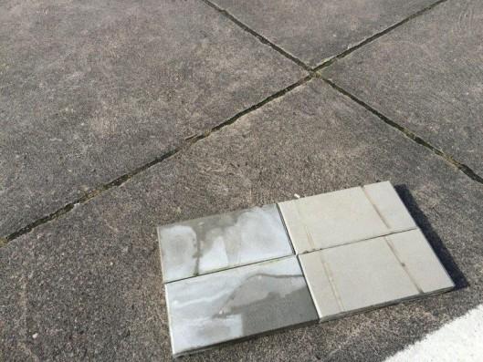 Terrassenplatten ZEMENTGRAU 20/40/4 CM 3-SEIT.GEF.