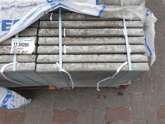 Terrassenplatten ZEMENTGRAU 50/50/4 CM M. FASE