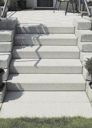 Stufen ALLEGRA ALPENGRAU 50/40/14 CM GESTRAHLT