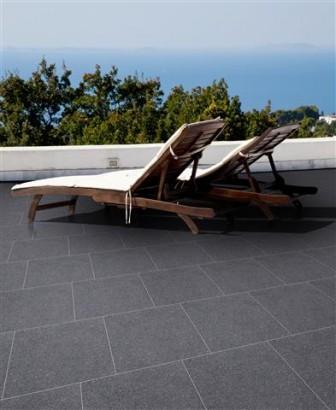 Terrassenplatten PREMIUM ANTHRAZIT S1 40/40/4 CM