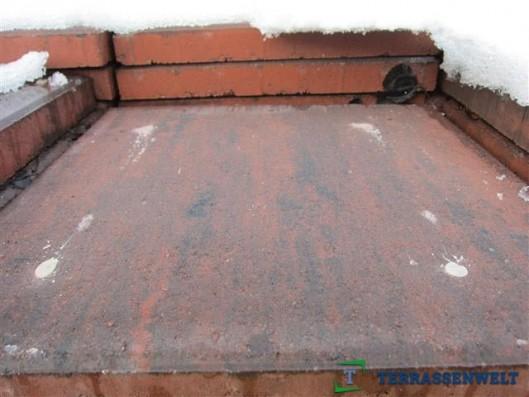 Terrassenplatten Rot Schwarz 40/40/4
