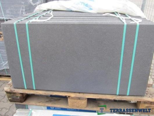 Terrassenplatten Schwarz Gestrahlt 100/50/4