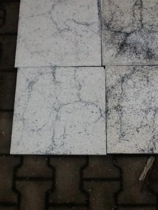 Terrassenplatten 1B WEIß-SCHWARZ MARM 40/40/4 CM