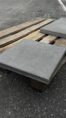Terrassenplatten 1B RUSTICA NANO WEIß-SCHW. GEFL.40/40/4