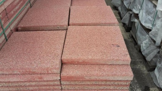 Terrassenplatten 1B PREMIUM ROT 40/40/4 CM