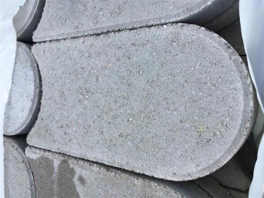 Objekte/- Gestaltungselemente 1B RASENMÄHKANTE GRAU 27,5/16/4 CM