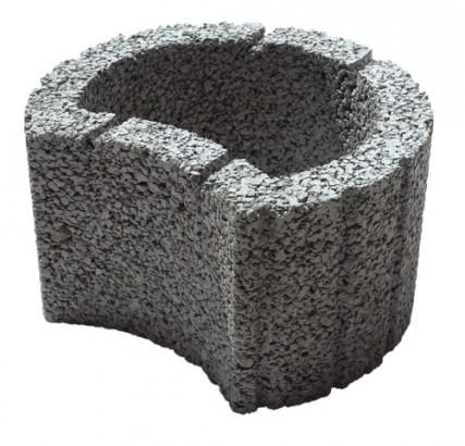 Objekte/- Gestaltungselemente 1B Florstein Mini Grau 35/28/20