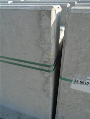 Objekte/- Gestaltungselemente 1B L-STEIN BEWEHRT GRAU 80/100/45/12 CM