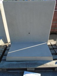 Objekte/- Gestaltungselemente 1B L-STEIN BEW. GRAU 105/100/60/12 CM