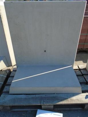 Objekte/- Gestaltungselemente 1B L-Stein bew. grau 105/100/60/12CM L