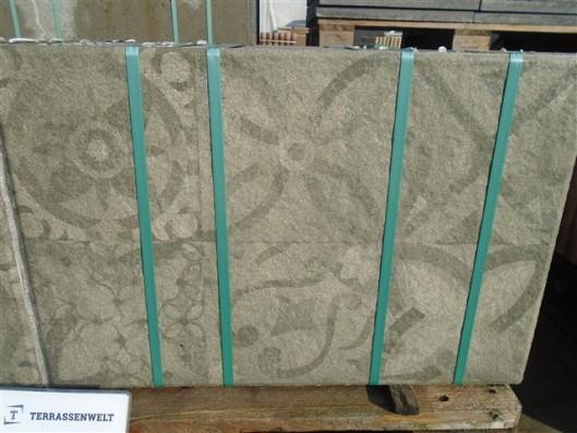 Terrassenplatten X-TRA LATIO ORNAMENTO BASALT 60/40/4 PE5