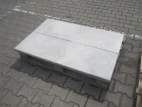 Terrassenplatten X-TRA RUSTICA WEIß-SCHWARZ 60/40/4