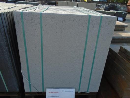 Terrassenplatten X-TRA DIE BELGISCHE GRAU-WEIß 80/80/4 CM