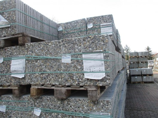 Terrassenplatten 1C WASCHBETON RHEINKIES 50/50/4 CM