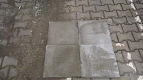 Terrassenplatten 1C ZEMENTGRAU 40/40/4 CM M. FASE