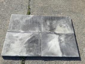 Terrassenplatten 1C ANCONA WEIß-SCHWARZ GEFL. 60/40/4 CM