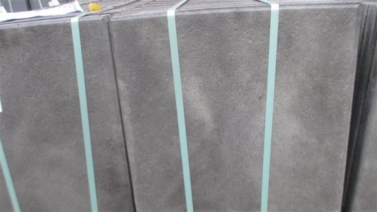 Terrassenplatten 1C RUSTICA GRAU-SCHWARZ 40/40/4