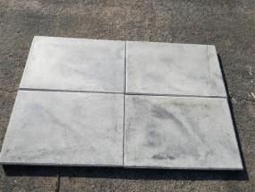 Terrassenplatten 1C RUSTICA NANO WEIß-SCHWARZ 60/40/4