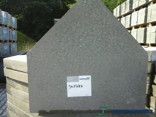 Terrassenplatten 1B BISCHOFSMÜTZE GRAU UNGESCHL.35/5