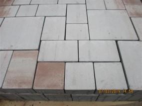 Pflastersteine LINE-TEC, terrakotta,5 Formate / Lage OF