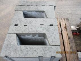Objekte/- Gestaltungselemente Bordrinnenstein Gr. 2 Normalstein grau