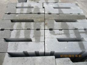 Bordrinnenstein Gr 2 Einfahrtstein grau