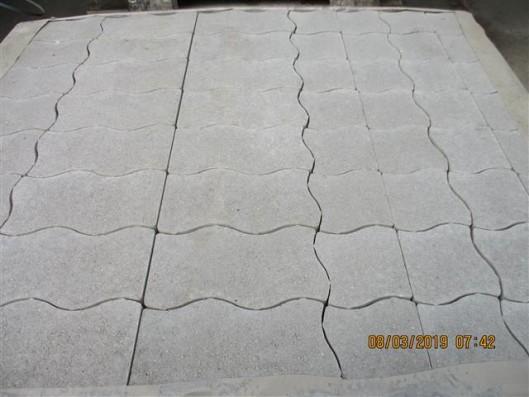 Pflastersteine Welle S ohne Fase grau 8er Randsteine