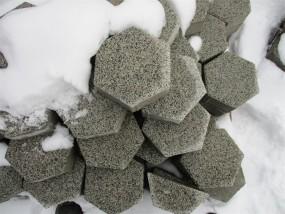 Pflastersteine HEXAGON gestr. schwarzkristall 20/23/8CM